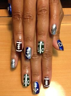 Some football nail ideas