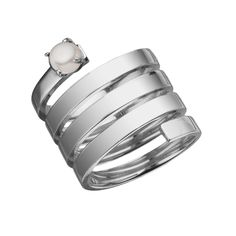 Wrap around ring with pearl. <br /> <br />Available in sizes 5-8. <br /> <br />RINGS ARE SPECIAL ORDERS AND CAN TAKE UP TO 4 WEEKS TO SHIP.  <br /> <br /> <br />