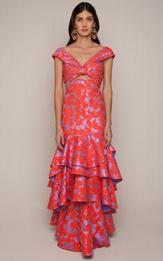 Magnolia Dress by Johanna Ortiz for Preorder on Moda Operandi Look Fashion, High Fashion, Womens Fashion, Fashion 2017, Fashion Design, Dress Skirt, Dress Up, Evening Dresses, Summer Dresses