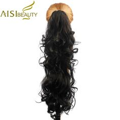 AISI BEAUTY 26 210g High Temperature Fiber Hairpieces Long Wavy Synthetic Claw Clip Ponytail Hair Extensions. Click visit to buy #SyntheticExtensions