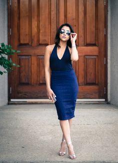 Ashley Settingiano - silverstile.com Red And White, Bodycon Dress, Blue, Dresses, Fashion, Vestidos, Moda, Body Con, Fasion