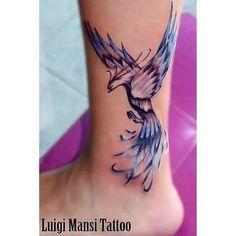 unique Watercolor tattoo - phoenix watercolour tattoo - Like but would wan. Pretty Tattoos, Unique Tattoos, Beautiful Tattoos, Small Tattoos, Tiny Tattoo, Bild Tattoos, Body Art Tattoos, New Tattoos, Color Tattoos
