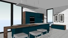 LUCCA Deep Ocean - WITT Kitchen - 3D Warehouse Warehouse Kitchen, 3d Warehouse, Lucca, Base Cabinets, Kitchen Cabinets, Tall Drawers, Witt, Kitchen Models, Deep