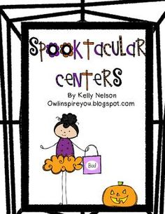 Halloween centers that are perfect for kindergarten! {focused on math and literacy and aligned with common core}