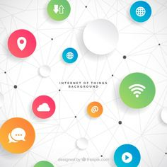 Iot background design Free Vector