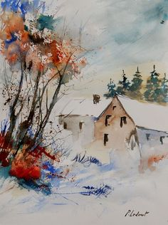 "Saatchi Online Artist: Pol Ledent; Watercolor 2013 Painting ""watercolor 905071"""