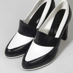 Chunky Heel Loafer Pumps - White - Heels - Shoes | CHARLES & KEITH