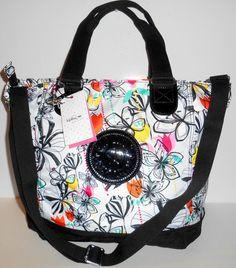 KIPLING SHOPPER Tote Bag Palm Print Combo Black Dual + Crossbody Handles NEW NWT #Kipling #TotesShoppers