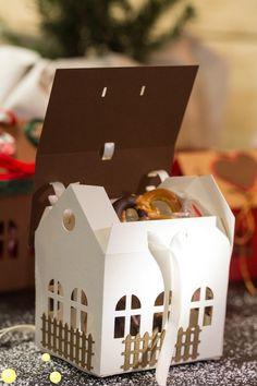 Geschenkverpackung, Plotterdatei, Schachtel Weihnachten