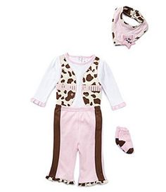 Starting Out Newborn-9 Months 4-Piece Lil Cowgirl Set