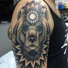 I love the line work in the bear