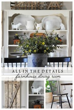 It's all in the details, and I'm sharing them on our farmhouse dining room! Source list included. www.littleglassjar.com