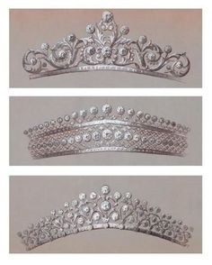 Three Boucheron designs for belle epoque diamond tiaras, hopefully they made it off the drawing board to grace the head of some lucky ladies.