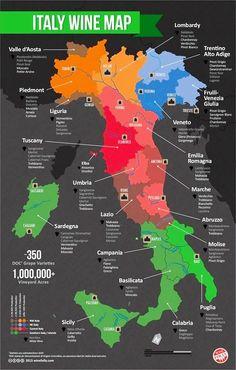 Italy #wine map