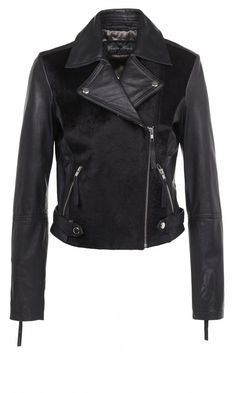 River Island AW13 Black Leather Look Contrast Jacket