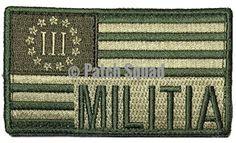 Patch Squad Men's USA Flag Militia Tactical Military 3% percenter Velcro Patch
