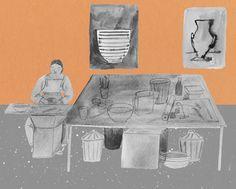 pia bramley: making pots