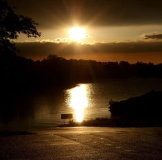 Sunset over Foss Lake