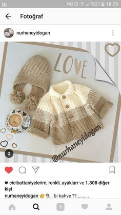 Knitting Pattern for Garter Stitch Baby JacketBaby cardigan knit in garter stitch with options for knit edging or crochet edging. Knitting For Kids, Baby Knitting Patterns, Crochet For Kids, Baby Patterns, Free Knitting, Knitting Projects, Crochet Baby, Crochet Projects, Crochet Patterns