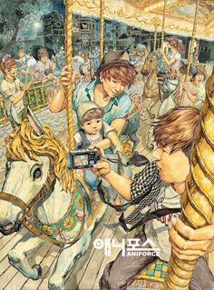 Cartoon Page 16 Creative Illustration, Illustration Art, Sea Drawing, Dancing Drawings, Sketches Of People, Korean Art, Sketchbook Inspiration, Pretty Art, Photomontage