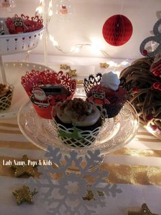 Sweet Table de Noël pour une fête de fin d'année en entreprise....