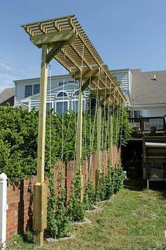 Arbor on the side of the house or garage?