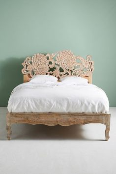 Slide View: 7: Hand-Carved Lotus Bed