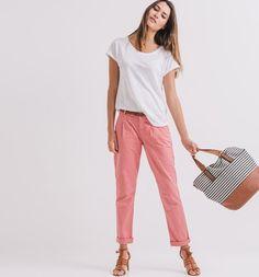 Pantaloni chino rosa - Promod