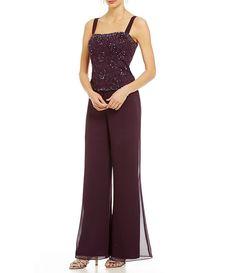4224976a79 Emma Street Beaded Lace   Chiffon Pant Set
