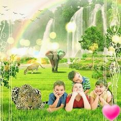 Scene of what life will be like in God's promised New World.where children can live and play in complete peace and without fear. Life In Paradise, Paradise On Earth, Jehovah Paradise, Anniversary Songs, Paradise Pictures, Answer To Life, Love Truths, Here On Earth, Jehovah's Witnesses