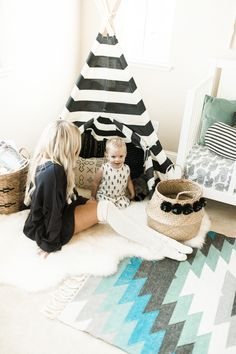 Adorable kid's room teepee: http://www.stylemepretty.com/living/2016/01/25/modern-bohemian-california-home-tour/ | Photography: Daphne Mae - http://www.daphnemaephotography.com/