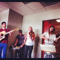 #WinterPeople stopped by to play some #Music for us. check them out if you can!