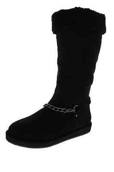 Guess NEW Horizan Black Faux Suede Embellished Mid-Calf Casual Boots Shoes 6.5