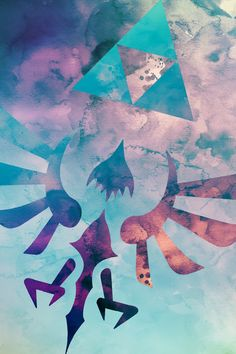 go around and around, pixalry: Watercolor Legend of Zelda Designs -...