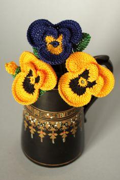 Flor de Crochê Receita Amor - Perfeito Almofadas Pétalas -  /   Crochet Flower Recipe Love - Perfect Pillows Pads Cushions Petals -