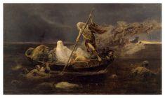 "Jose Benlliure y Gil (1855-1937), ""La Barca de Caronte/The Boat of Charon"" (1919)"