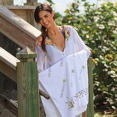 Small White Beach Towel