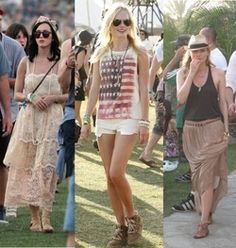 A romantic boho look, patriotic-grunge, or minimalist-chic. Festival Fashion, Festival Style, Minimalist Chic, Diane Kruger, Kate Bosworth, Boho Look, Mix N Match, Katy Perry, White Shorts