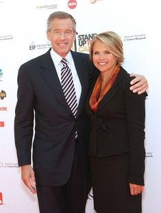 Katie Couric Photos - News anchors Brian Williams (L) and Katie Couric arrives at Stand Up To Cancer held at Sony Pictures Studios on September 2010 in Culver City, California. - Stand Up To Cancer - Arrivals Brian Williams, Katie Couric, News Anchor, Stand Up, September 10, Cancer, Hair Cuts, Suit Jacket, Anchors