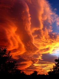 Lenticular clouds at sunset, Catalonia, Spain