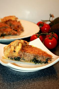 A tasty meat and spinach pie, typical Swiss