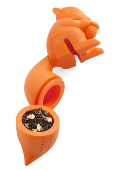 Finders Steepers Infuser. Snatch that exotic herbal flavor right off the shelf and brew it in this orange silicone infuser! #orange #modcloth