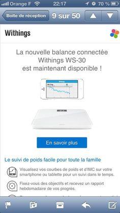 La balance connectée à Internet WS-30 est enfin disponible! En savoir plus : http://blog.withings.com/en/2012/10/30/wireless-scale-its-smart-and-easy-and-now-its-out/