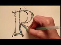 Holy cow! This is amazing! Video of how to do letters - pin now, watch later