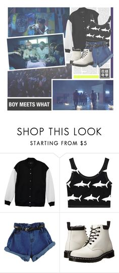 """""""Fire--- BTS"""" by alicejean123 ❤ liked on Polyvore featuring TIBI, Chicnova Fashion and Dr. Martens"""