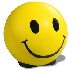 This ever-smiling stress ball is sure to brighten your customers' day!