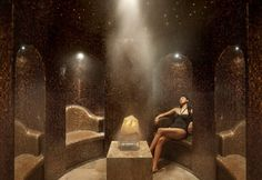 Amethyst Crystal Steam Room at The Oriental Spa // The Landmark Mandarin Oriental, Hong Kong.