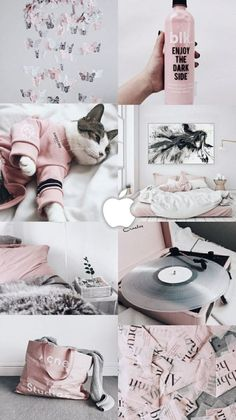 Cats Wallpaper Iphone Pink Ideas For 2019 Cats Wallpaper, Trendy Wallpaper, Tumblr Wallpaper, Pink Wallpaper, Galaxy Wallpaper, Kitchen Wallpaper, Wallpaper Lockscreen, Cat Aesthetic, Aesthetic Collage