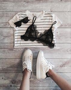 FashionCoolture - black lace bra strappy bra lingerie OhStudio (6)