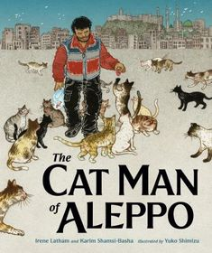 Alaa loves Aleppo, but when war comes his neighbors flee to safety, leaving their many pets behind. Alaa decides to stay -- he can make a difference by driving an ambulance, carrying the sick and wounded to safety. One day he hears hungry cats calling out to him on his way home. They are lonely and scared, just like him. He feeds and pets them to let them know they are loved. The next day more cats come, and then even more! There are too many for Alaa to take care of on his own. Alaa has a...